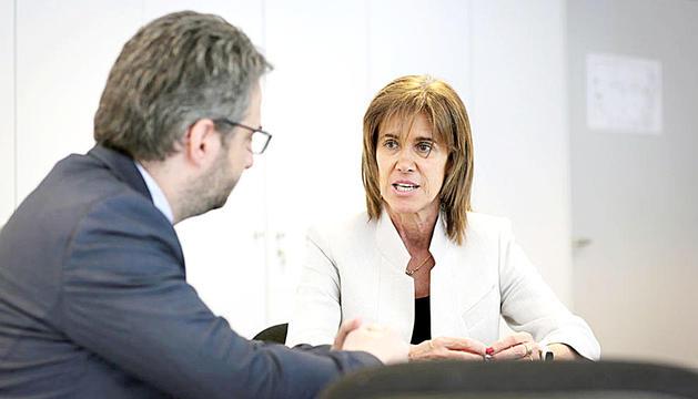 Els ministres Eric Jover i Ester Vilarrubla.