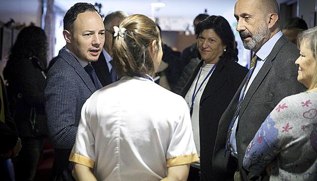 El cap de Govern, Xavier Espot, i el ministre de Salut, Joan Martínez Benazet, durant la darrera visita a El Cedre.