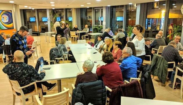 Unió x Escaldes-Engordany durant la visita a la llar de jubilats de la parròquia