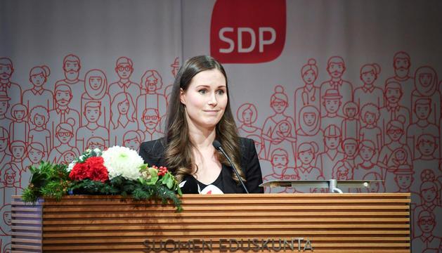 La futura primera ministra, Sanna Marin.