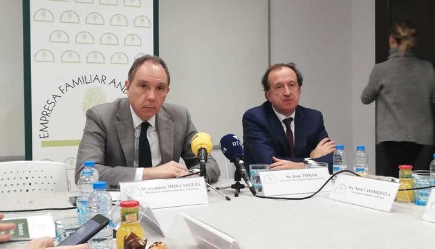El president de l'EFA, Francesc Mora, i el secretari tècnic de l'entitat, Joan Tomàs