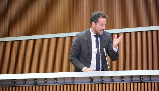 Pere Lópea en una intervenció al Consell General