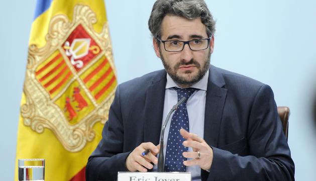El ministre portaveu, Eric Jover, a la roda de premsa posterior al consell de ministres