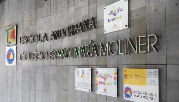 L'escola espanyola María Moliner ubicada a Escaldes-Engordany, ahir.