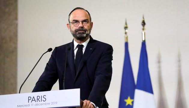 El primer ministre gal, Édouard Philippe, ahir.