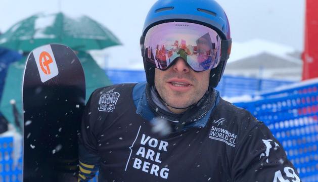 Lluís Marín poc després de competir a la segona ronda.