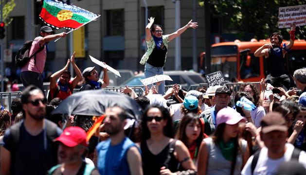 Una de les protestes a Xile.