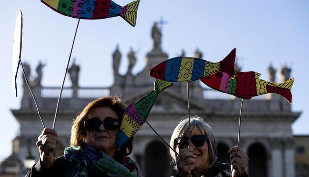 Manifestació a Roma.