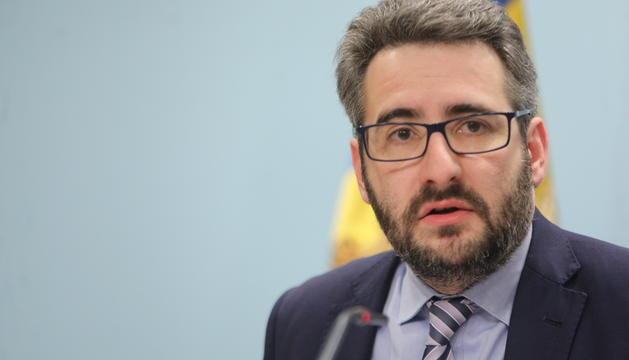 El ministre Jover durant la roda posterior de premsa al Consell de Ministres