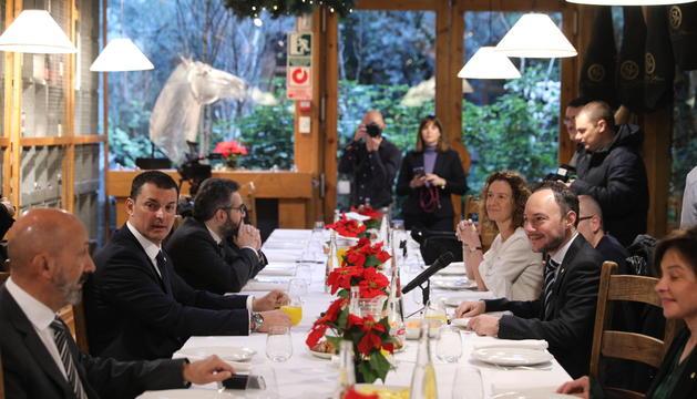 Jordi Gallardo ha participat en l'esmorzar de Nadal amb la premsa