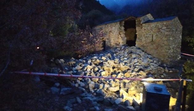 L'esfondrament a l'església de Sant Vicenç d'Enclar