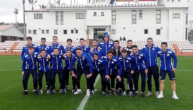 La selecció sub-21 al Marbella Football Center.