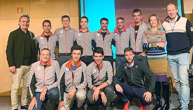 L'equip nacional d'esquí de muntanya.
