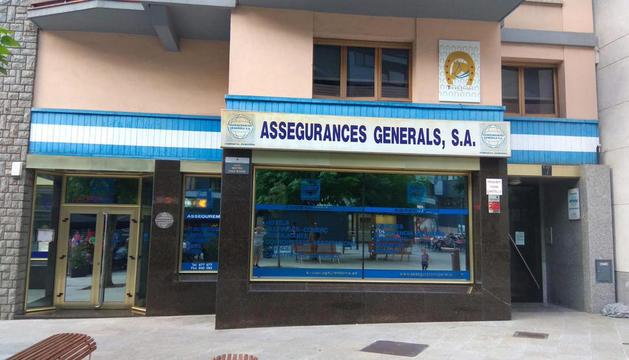 Les oficines d'Assegurances Generals.