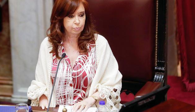 Cristina Fernández al senat argentí.