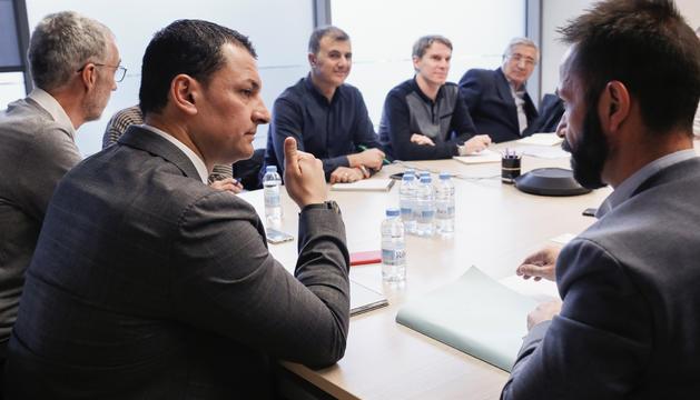 El ministre de Presidència, Economia i Empresa, Jordi Gallardo, durant