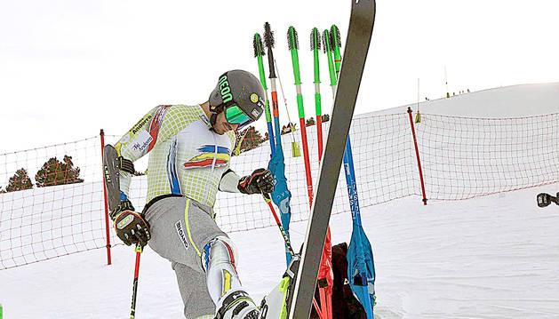 Joan Verdú després del retorn a la competició, la setmana passada a Nakiska (Canadà).