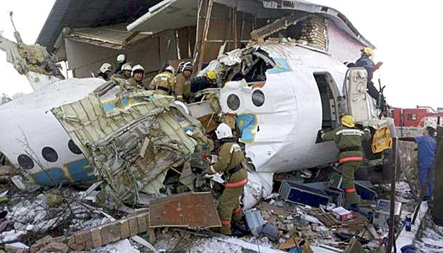 L'estat en què va quedar l'aeronau accidentada.