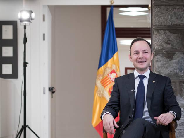 Xavier Espot ha fet el primer discurs de Cap d'Any a l'antic Hotel Rosaleda
