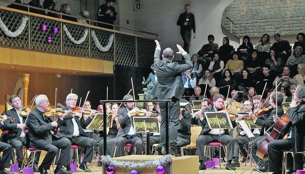 Un moment del Concert de Cap d'Any ofert per l'ONCA.