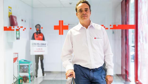 El cap de l'àrea operativa de Creu Roja Andorrana, Quim Fenoll
