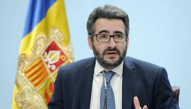 El ministre portaveu, Eric Jover, en la roda de premsa posterior al Consell de Ministres