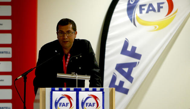El nou secretari general de la FAF, David Rodrigo.