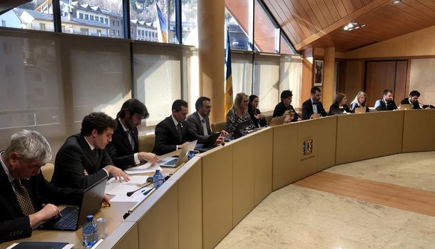 La sessió del consell del comú de la Massana aquest matí