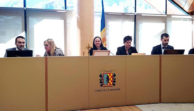 La sessió del consell del comú de la Massana d'ahir.