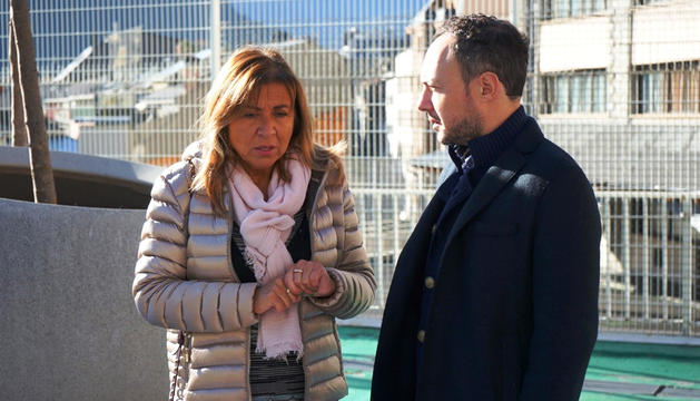 Conxita Marsol conversa amb Xavier Espot.