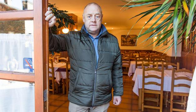Josep Mandicó al restaurant de Ransol, un dels negocis familiars que gestiona