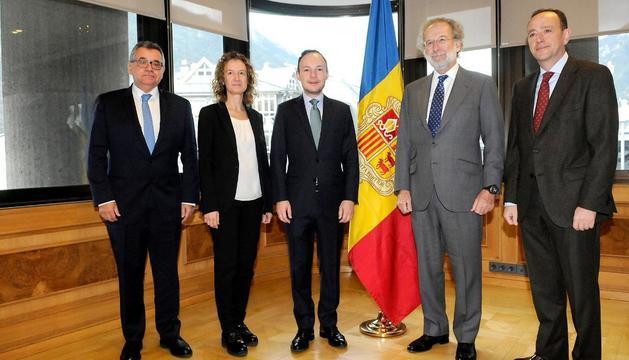 Xavie Espot ha presidit la trobada amb Javier Uriarte