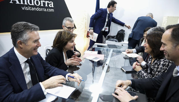 La ministra de Turisme s'ha desplaçat amb una delegació andorrana a Madrid  per reunir-se amb els seus homòlegs d'altres països