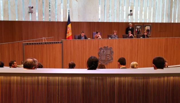 Un dels moments de la sessió ordinària del Consell General celebrada avui