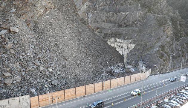 Les precipitacions podrien afectar els moviments de la muntanya a la Portalada