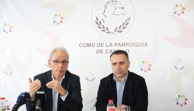 Francesc Camp i Marc Casal han comparegut per explicar la decisió sobre el túnel d'Envalira