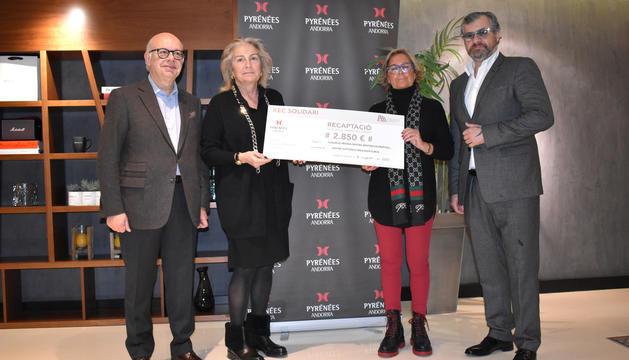 Donació de 2.850 euros a la Fundació Meritxell