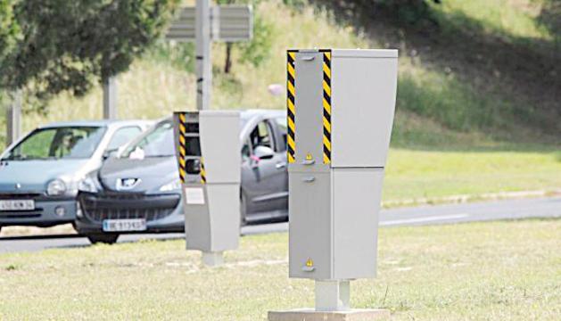 Un radar fix en una carretera de l'Arieja.