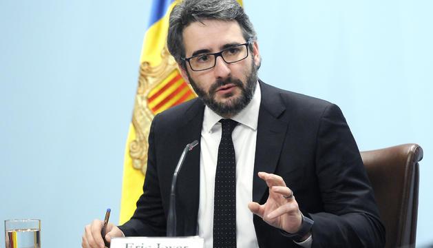 Eric Jover en la roda de premsa posterior al consell de ministres