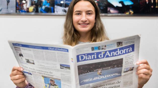 Vicky Jiménez Kasintseva, ahir a la redacció del Diari d'Andorra.