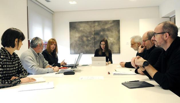 El Consell Assessor del Patrimoni durant la reunió d'aquest matí