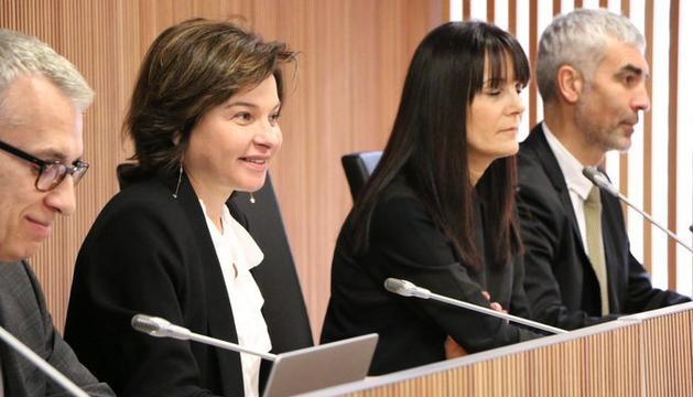 La ministra de Turisme, Verònica Canals, durant la compareixença al Consell General