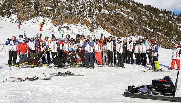 Segona sortida d'esquí de l'associació Hi Arribarem