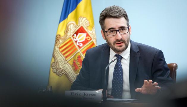 El ministre portaveu, Eric Jover, durant la roda de premsa posterior al consell de ministres