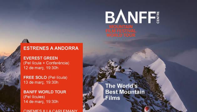 El cartell del Banff Andorra, que es farà del 12 al 14 de març