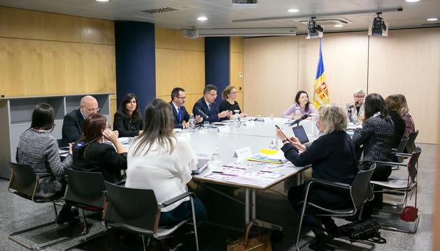 La visita del grup d'experts del Consell d'Europa.