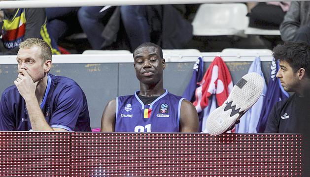 Moussa Diagne en un partit d'aquesta temporada.