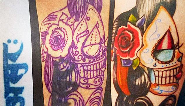 Cover de Miriam Garcia de la mà de David Sánchez, tatuador de Por Amor al Arte