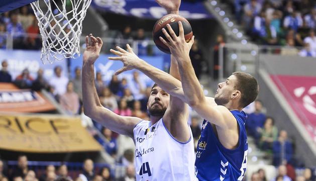 Imatge del partit del MoraBanc Andorra contra el San Pablo de Burgos