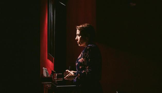 L'actriu catalana Emma Vilarasau durant la funció.